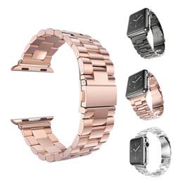 Accesorios reloj de pulsera online-Reloj de pulsera de acero inoxidable para Iwatch Apple Reloj de pulsera de correa para mujer Mujer Accesorios 38mm 42mm con adaptador