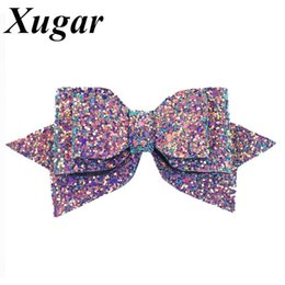 5 '' Bowknot principessa Hairgrips Glitter Bling capelli archi con clip Dance Party Girls Forcine Accessori per capelli da