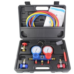 2019 software do reparo do carro do alldata R134A Refrigeração Ar Condicionado AC Diagnóstico Manifold Calibre Ferramenta Se Encaixa para R134A R410 R22