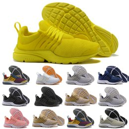 Wholesale New Shoes For Army - 2018 New Original Air PRESTO BR QS Breathe Yellow Black White Casual Shoes for prestos 5 Women Men Sports run trainer Running Sneakers