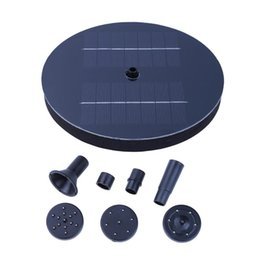 2019 fontane d'acqua solare Black Outdoor Solar Powered Bird Bath Pompa fontana di acqua Pool Garden Aquarium Panel Garden Plants Watering Pool fontana di potenza fontane d'acqua solare economici