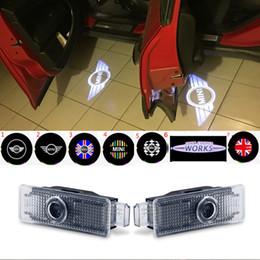 2 pz Car Door Welcome Lights Proiettore Logo LED Per Mini Cooper R55 R58 R58 R59 R60 Clubman Countryman S JCW F54 F55 F56 F57 da
