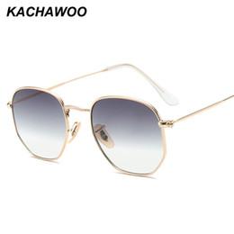 1ad68c0681be3 Kachawoo atacado 6 pcs retro quadrado óculos de sol dos homens gradiente de  lente clara moldura de metal pequeno óculos de sol das mulheres verão 2018  UV400