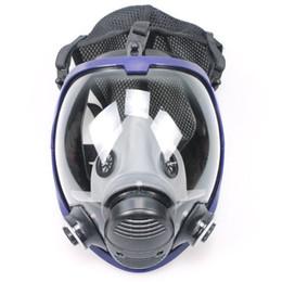 2019 atemschutzgasmaske Full Face Outdoor-Multifunktionsmaske Atemschutzmaske Anti-Staub-chemische Sicherheitsmaske mit Coon Filter für Industrie Malerei rabatt atemschutzgasmaske
