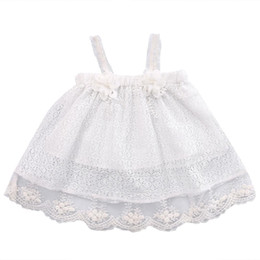 одежда для ту Скидка Infant Newborn Kids Baby Girls Summer Dress Princess Party Flower Tu tu Dresses Cotton Black Clothes