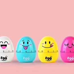 Temporizador de calidad online-Lovely Egg Machinery Timer Cartoon Emoji Pattern Plastic Calculagraph Práctico Cuatro Colores Medidor de Tiempo de Alta Calidad 6 3yy B