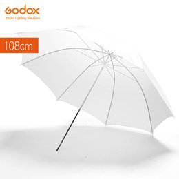 "Wholesale Photography Strobe - Godox 43"" 108cm White Soft Diffuser Studio Photography Translucent Umbrella for Studio Flash Strobe Lighting"