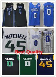 Wholesale Cheap Black Clothing - NCAA Best Quality Jayson Tatum 2018 New basketball jerseys mens mitchell Duke Blue Devils college white green donovan cheap sale clothing