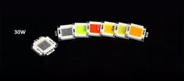 Chip liderado integrado rgb on-line-LED COB Diodos integrados chip lâmpada 7 cores 10 W 20 W 30 W 50 W 100 W Lâmpada RGB Para Holofote lanterna luzes de emergência