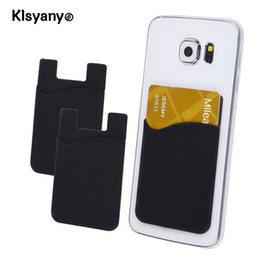 Wholesale Cell Christmas Cases Wholesale - Klsyanyo 2pcs lot Adhesive Sticker Back Cover Card Holder Small Bus Card Case Pouch for Cell Phone