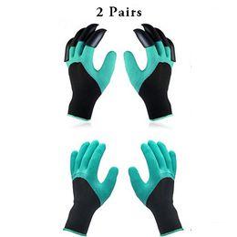 Garten Genie Handschuhe 2 Paar Garten Handschuhe mit Klaue für Frauen und Männer Pflanzen Digging Fixierhandschuhe wasserdicht und atmungsaktiv Handschuh von Fabrikanten