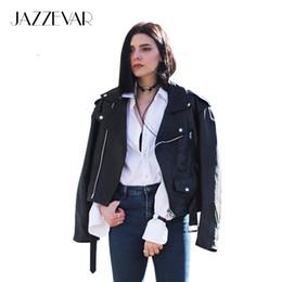 X Jazzevar New Autumn High Street Street Womens corto lavado chaqueta de cuero de la PU cremallera colores brillantes nuevas señoras chaquetas básicas desde fabricantes