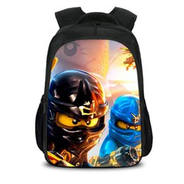 school bag teens Coupons - New 3D Lego Bookbag for Teens Back to School Bag Hot Movie Lego Ninjago Printing Student Travel Backpacks Bagpack H212