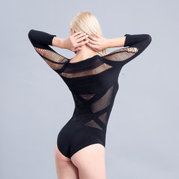 Wholesale Tight Sexy Pajamas - Europe and the United States fun pajamas tight long-sleeved perspective conjoined sexy temptation nightclub