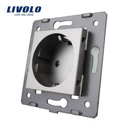 Argentina Piezas de Livolo Socket DIY, materiales plásticos grises, estándar de la UE, llave de función 16A para el enchufe de pared de la UE, VL-C7-C1EU-15 Suministro