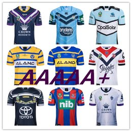 caballeros azules Rebajas 2018 nrl jerseys rugby league Storm BRONCOS Cowboys KNIGHTS Eels Roosters jerseys de rugby New South Wales Blues State jerseys de Melbourne S-3XL