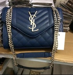 Wholesale Pocket Chains For Sale - SALE New 2018 very fashion alligator genuine leather good quality luxury brand shoulder bag with gold chain for women on sale free shipping