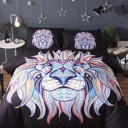 Wholesale Lion Print Bedding Set - Digital printing elephant lion Romantic Lace Series Double 3Piece Bedding Simple Nordic Wind Princess Bed Sheet 1.8 m   2 m bedding set