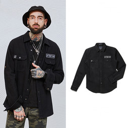 Wholesale Breast Products - Brand Jacket Men's Personality New Products Embroidery High Street European And American Style Fashion Coat