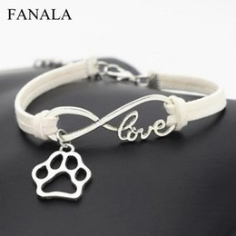 Seil armband muster online-Art-Hundefreunde-Weinlese-Verpackungs-Armband-Lederseil-bestes Muster