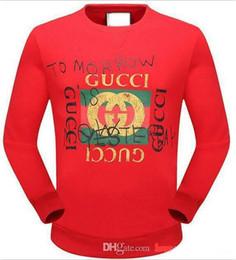 Wholesale Mens Sweater 3xl - Autumn Mens g Hoodies Luxury Designer Red Green Striped G&G Sweatshirts Male Printed Pullover Sweaters Boys Long Sleeve sportswear