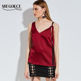 4955b9391 Nueva colección de Miegofce 2018 Blusa de verano Borgoña Color Casual Top  Club sin mangas Ropa Mujer Blusas Verano Top blusas color burdeos en venta