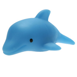 Wholesale Toys Change Shape - Kawaii Dolphin Shape Baby Bath Toy Colorful LED Flashing Lamp Changing Toy Children Swiming Water Toys Hot sale