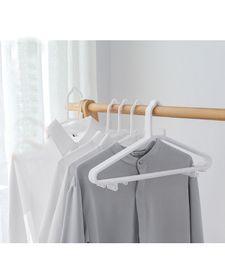Wholesale plastic clothes hangers adult - Anti Slip Plastic Seamless Hangers -   Dry Wet Clothes White Hanger (200 Pcs) for Adult sweaters, Dresses, Suits HDC1028