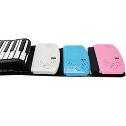 Wholesale Roll Up Keyboards - 61 Keys Electronic Piano Hand Roll Flexible Synthesizer Sound Rhythm Demo Built In Portable Soft Keyboard Roll Up Rechargeable Li-on Battery