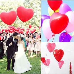 Deutschland Herzförmige Luftballons Latex Luftballons Dekorative Luftballons für Hochzeit Valentinstag Ausdrücke Geburtstag Dekoration (100 Stück) Versorgung
