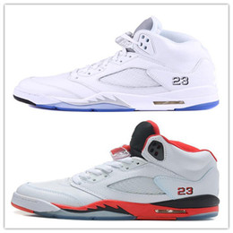 Discount olympic boxing - Box 2018 mens Basketball shoes 5 5s V Olympic metallic Gold White Cement Man Shoes OG Black Metallic red blue Suede Sport Sneakers