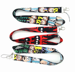 huge selection of eb638 f7c74 New Cartoon Rick and Morty cellPhone Lanyard key chain Neck Strap Keys  Iphone ID Card Straps