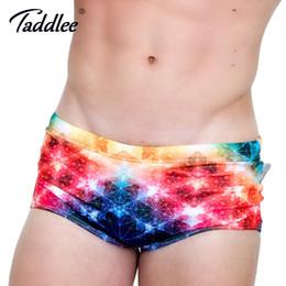 5505685975f Taddlee Brand Sexy Men's Swimwear Swimsuits Swim Boxer Briefs 3D Printed Men  Board Beach Trunks Low Waist Swimming Bikini Gay