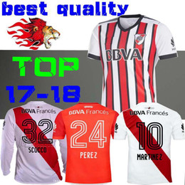 Wholesale rivers blue - 2018 River Plate third away Soccer Jerseys SCOCCO CASCO home MARTINEZ AWAY RED PEREZ FERNANDEZ 18 19 FOOTBALL SHIRTS JERSEY MORA Long sleeve