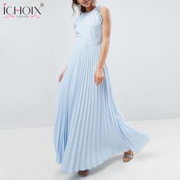 68a94aca8ff4 Backless Summer Dresses for Women 2018 Vintage Maxi Pleated Party Dress  Long Sexy Dresses Sleeveless Ruffle Halter dress Vestido
