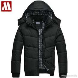 1e504ddb763 Discount puffer down jackets - Wholesale- Men winter Hoodies quilted jacket  warm fashion Men s puffer