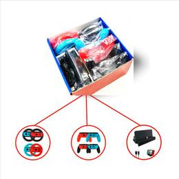 Vente chaude 10 en 1 Accessoires Set pour Nintend Switch 4 * Poignée de volant pour Joy-con Grip 4 * Contrôleur Grips Type-C Cable Charger ? partir de fabricateur