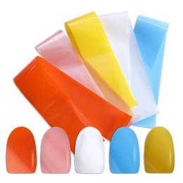 Accesorios de papel de envolver online-1 lote Shimmer Nail Foils calcomanías de color caramelo papel de estrella envuelve etiquetas engomadas del polaco adhesivo uñas accesorios manicura herramienta BE993