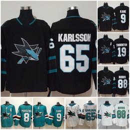 2019 San Jose Sharks  8 Joe Pavelski 19 Thornton 88 Brent Burns 9 Evander  Kane Green White  65 Erik Karlsson Couture 2018 Hockey Jerseys 6b88ad9ab