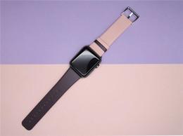 дамы \ дам лето натуральная кожа таинственная элегантность фиолетовый розовый ремешки для часов женские 38мм краткие солнечные пляжные наручные часы ремни \ ремни от Поставщики фиолетовые женские кожаные часы