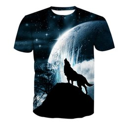 t shirts men full print Coupons - Men T-shirt Wolf 3D Full Print Man Casual Tops Unisex Short Sleeves Digital Graphic Tee Shirt Tees T-Shirts Blouse (RLT-4078)