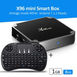 Caixa de instalação on-line-2019 s905W Android Software TV Box Software instalado 4k caixas de streaming de tv ultra inteligente X96 mini com RII I8 backlight Teclado Sem Fio