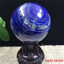 Wholesale Lapis Ball - Natural lapis lazuli Afghan stone polishing crystal ball with multi - specification energy ball home decoration Teaching specimens