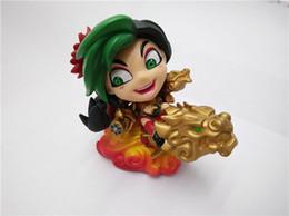 Wholesale league legends action figures - CICITOYFIRM Anime Q Version PVC 10cm League of Legends Dragon Flame Jinx PVC Action Figure Toy Gifts