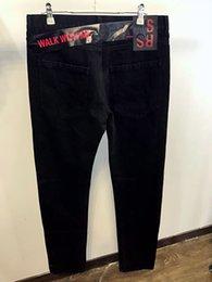 Wholesale Drawstring Jacket - RAF SIMMONS Jeans pants 17FW DENIM JACKET PVC TAPE ASAP ROCKY STYLE LOng Sleeve JACKET Catwalk Show Product