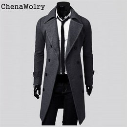 1859225f148 Stylish Casual Winter Warm Slim Fit Long Sleeve Men Trench Coat Double  Breasted Long Jacket Parka  SXC2130 Y181101