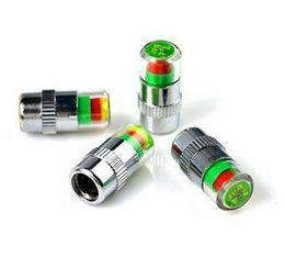4 Pçs / lote 2.4 Bar Car Auto Pressão Dos Pneus Monitor de Alarme Da Haste Da Válvula Tampas Tampa Indicador de Sensor de Alerta Medidor De Ar Do Pneu Alerta dispositivo de