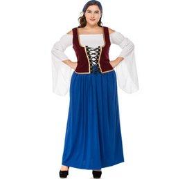 4115247a73fea 5 boyutu Alman büyük kırmızı bira festivali kostümleri tombul yetişkin kadın  korsan Cadılar Bayramı Cosplay Kostümler Fantezi Parti Elbise Kıyafetler