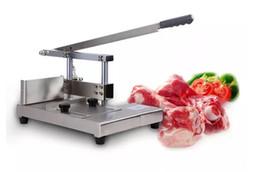 Wholesale pigging knife - Bone Saw pig ribs guillotine cutting machines cut pork chop bone machine manually cut ribs guillotine bone cutting machine LLFA