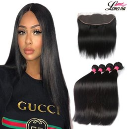 Wholesale Unprocessed Indian Lace Closure - Grade 8A Mink Brazilian Straight Virgin Human Hair Bundles with 4x13 Lace Frontal Unprocessed Brazialin Straight Hair With Frontal Closure